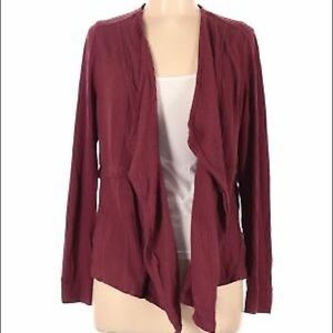 Knox Rose Tie Front Burgundy Cardigan Size X-Large